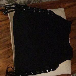 Zara lace down crop top